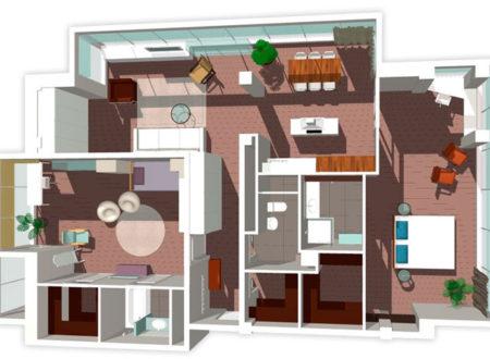 Дизайн интерьера - вариант планировочного решения