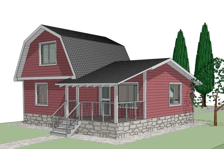 Эскизный проект реконструкции дачного домика