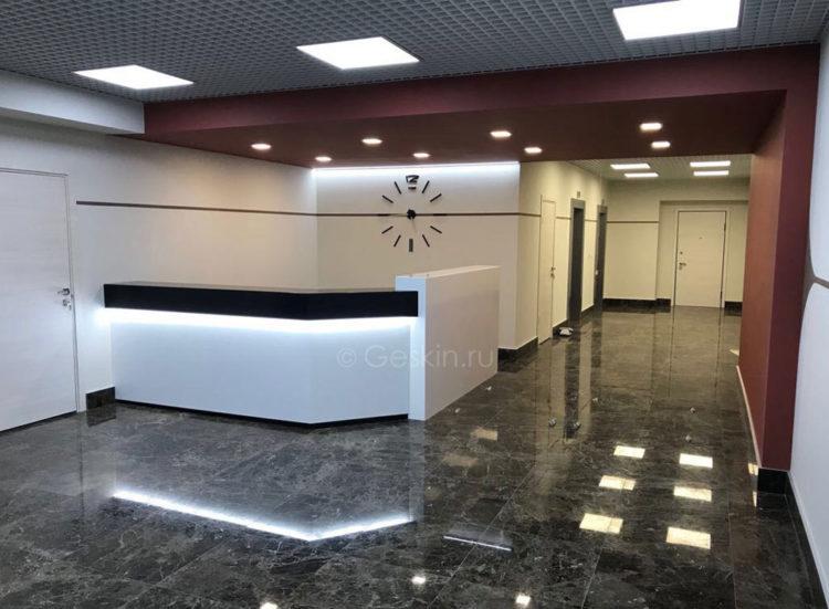 Концепция дизайна входного холла офисного центра
