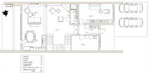 Планировка 1го этажа таунхауса в Рублево