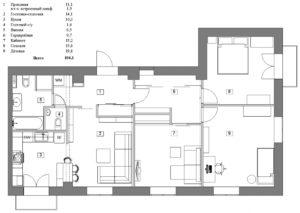 Планировка четырехкомнатной квартиры на пр. Мира