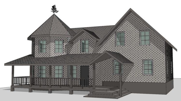 Архитектурный проект реконструкции дома в Сокольниках